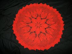 Orange flower doily by Funkydeb on Etsy Orange Flowers, Crochet Doilies, Table Runners, Blanket, Unique Jewelry, Handmade Gifts, Etsy, Vintage, Kid Craft Gifts