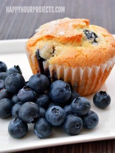 My husband has been asking for blueberry muffins ever since the end of summer, and with a few tweaks, I'm thrilled to say, we've got a winning gluten free blueberry lemon muffin recipe here. Recipe courtesy of Happy Hour Projects.