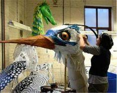 #theater #theater #knutselen Bird Puppet, Marionette Puppet, Paper Mache Sculpture, Bird Sculpture, Craft Projects For Kids, Art Projects, Paper Mache Animals, Art Assignments, Punch And Judy