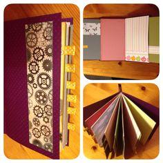 Dette er en liten album eg har laga av komfolutter som eg har dekorert med restepapir.