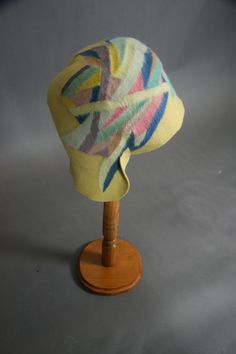 Sonia Delaunay Cloche + Scarf (w. cert of auth) | From a collection of rare vintage cloche hats at https://www.1stdibs.com/fashion/accessories/cloche-hats/