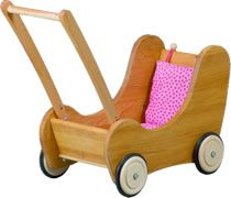Carro de madera para paseo de bebe http://www.hullitoys.com/54_norbert-verneuer