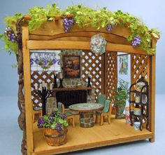 A Vineyard Retreat : The Quarter Source, Quarter Inch Scale Miniatures