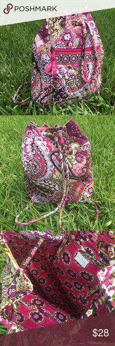 """Vera Bradley Backpack Very Berry paisley BackSack This is the BackSack from Vera Bradley This Bag is in Excellent condition and only used a few times. The dimensions are about the 13""""w 15""""h 4"""". Vera Bradley Bags Backpacks"""