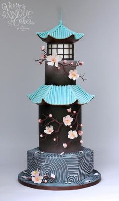 Gardens of the World, cake design Crazy Wedding Cakes, Crazy Cakes, Fancy Cakes, Cute Cakes, Pretty Cakes, Pink Cakes, Bolo Fondant, Fondant Cakes, Cupcake Cakes