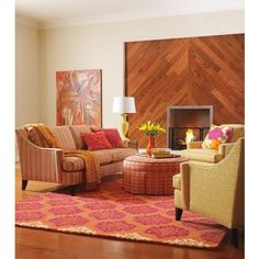 Autumn Brights Inspiration - Charlotte Sofa in Marlowe Stripe Bittersweet | Fine Furniture from Company C (New)