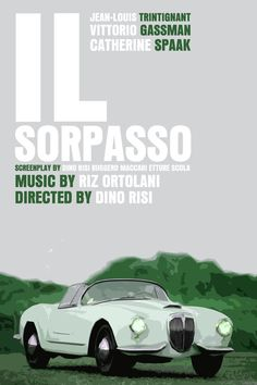 Italy Movie Poster Set Il Sorpasso / Milano by FunnyFaceArt