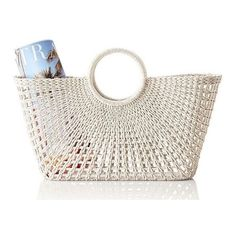 Mark & Graham Sunburst Beach Tote, White (66 CAD) ❤ liked on Polyvore featuring bags and decor