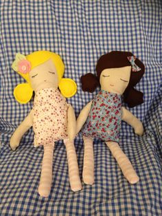 Ruby and Rosie soft dollies
