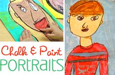 Portrait Art Lessons for Kinder and first grade