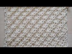 Punto tejido en dos agujas - YouTube
