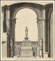 Saint-Denis, basilique - Desseins d'élévations de la chapelle de N.D. la Blanche, 1684