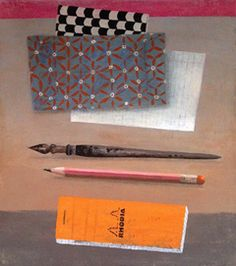 Marion de Man, Pen en Papier, Acryl op doek, 40x45 cm, €.675,-