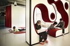 View of the conversation wall in Vittra school, Telefonplan by Rosan Bosch Ltd.