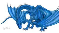 Saphira Bjartskular, Partner-of-heart-and-mind of Eragon Bromsson by EloiseS16.deviantart.com on @DeviantArt