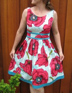 Monique Dress Sewing Pattern. I am probably never going to be brave enough to try to make my own dress, but this is too cute not to hope for.