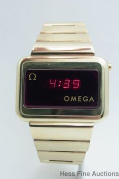 Massive Genuine Omega Constellation Working LED Gold Clad Mens Vintage Watch #Omega