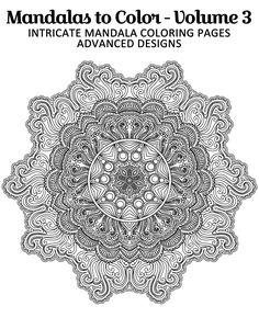 Free printable mandala coloring page from Mandalas to Color - Intricate Mandala Coloring Pages: Advanced Designs - Volume 3 Click here for 49 more mandalas you can color: http://www.amazon.com/Mandalas-Color-Intricate-Coloring-Advanced/dp/1495449017 #freecoloringbook Copyright © 2014 IRONPOWER PUBLISHING
