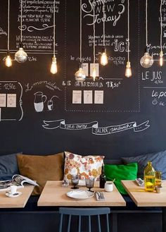 Do you dream of opening your own restaurant? What should you do to successfully open a unique restaurant? Opening a restaurant is like starting any new Decoration Restaurant, Deco Restaurant, Restaurant Ideas, Black Restaurant, Coffe Shop Decoration, Vintage Restaurant Design, Vintage Cafe Design, Chalkboard Restaurant, Starting A Restaurant