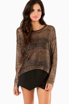 Show Me Metallic Sweater