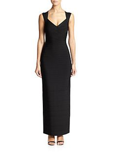 Herve Leger - Sleeveless Bandage Gown