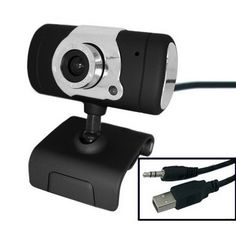 [USD4.18] [EUR3.84] [GBP2.98] USB 16.0 Mega Pixels Driverless PC Camera with Mic and 360 degree rotated (Black)