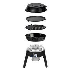 The all new Cadac Safari Chef 2 HP is a portable and versatile gas BBQ, weighing less than 4kg. It includes four interchangeable #cooking surfaces. These are the pot stand, #BBQ top, the non-stick flat griddle and the pot (also used as a dome/lid). These all pack into a convenient bag. The Safari #Chef 2 HP operates off any threaded camping cartridge (not included). The #Cadac Safari chef is ideal for #camping, hiking, fishing, caravanning and sports events.