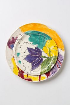 Palette-Sketch Dinnerware #anthropologie...mix and match with some solid color plates for a different look!