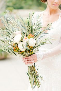 Olive Branches as wedding flowers