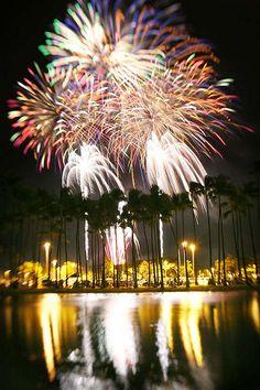 Ala Moana Fireworks ,Hawaii