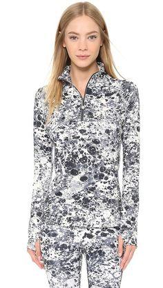 USINMADE | Primsport Long Sleeve Zip Top in Marble. Made in America!