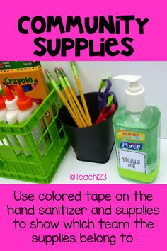 Great organization idea for shared supplies