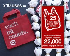Do you tote your latest Target haul in reusable bags? Keep up the great work!