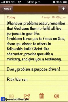 Rick Warren facebook.com/donttakethemark