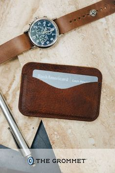 Elevate your everyday carry with a leather card case. It has space for up to eight credit cards and even some cash, and is crafted in Maine with American bison leather that is known for its durability. The perfect gift for every man in your life! Gifts For Husband, Gifts For Father, Leather Card Case, Leather Wallet, Easter Gift For Adults, Diy Jewelry Holder, Wood Carving Patterns, Gifts For Cooks, American Bison