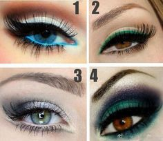 Make up for blue and brown eyes