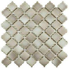 Hudson Tangier Dove Grey 12-3/8 in. x 12-1/2 in. x 5 mm Porcelain Mosaic Tile
