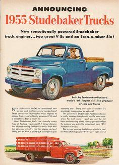 Studebaker Pickup Truck Vintage 1950s Print Ad
