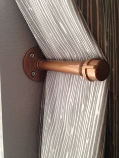 This curtain tie back is a great piece of home decor and will compliment custom curtains and industrial decor. Window hardware is often the finishing touch to a room and this metal tie back will hold                                                                                                                                                       More