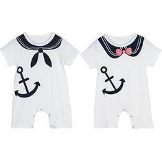 Twin Sailor romper Set