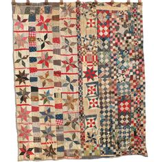 Terrific antique, two-sided scrap quilt from Kentucky, c. 1900.