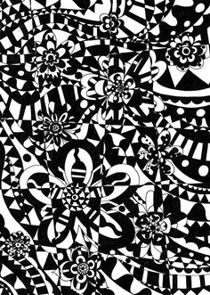 Les Antònies: BLACK&WHITE CRAFTY BLOGGERS SUNDAY DOODLE PARTY.
