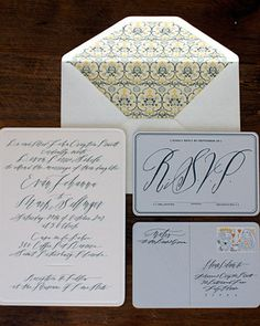 An invitation we did with Betsey Dunlap's fabulous calligraphy