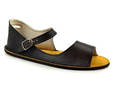 Soft Star shoes - Black Soft Star Adult Solstice Sandal in Smooth Turquoise Leather