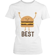 Cute Best Friend T Shirts Hamburger and Fries Funny BFF Matching... ($24) ❤ liked on Polyvore