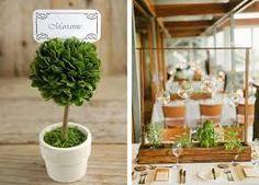 Artificial Topiaries in weddings