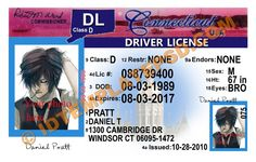 This is Connecticut (USA State) Drivers License PSD (Photoshop) Template. On this PSD Template you can put any Name, Address, License No. DOB etc and make your personalized Driver License.  You can also print this Connecticut (USA State) Drivers License from a professional plastic ID Card Printer and use as per your requirement.