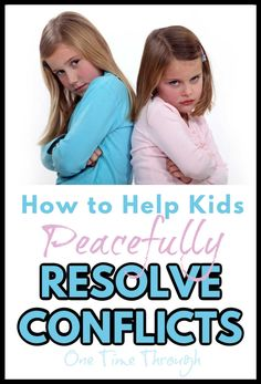 Find a simple step-by-step process to help kids work through and resolve their conflicts in a peaceful way that helps develop empathy, emotional and social intelligence. Help Kids, Kids Work, Sibling Rivalry, Conflict Resolution, Good Parenting, Working With Children, Elementary Teacher, Educational Activities, Life Skills