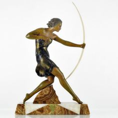 DIANA THE HUNTRESS. FRANCE, ca. 1930s. France, ca. 1930s. ART DECO. VERY LARGE. however, colors may vary due to the settings of your computer monitor. | eBay!