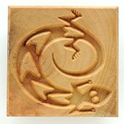 MKM Ssl-13 Stamps4Clay photo - The Lizard makes a wonderful design with texture.
